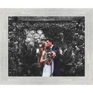 5x7 White Barnwood Picture Frame - With Acrylic Front and Foam Board Backing - White Barnwood (solid wood)