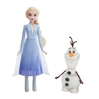 Disney Frozen Talk And Glow Olaf And Elsa Dolls, Remote Control Elsa Activates Talking, Dancing, Glowing Olaf, Inspired