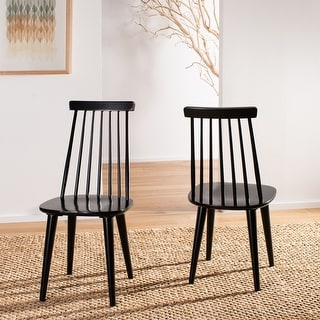 "Safavieh Country Classic Dining Burris Black Dining Chairs (Set of 2) - 17.3"" x 20.7"" x 36"""