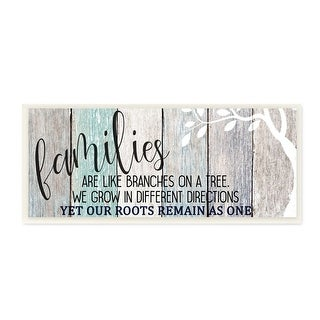 Stupell Industries Inspirational Families are Branches Nature Farmhouse Quote,7 x 17, Wood Wall Art