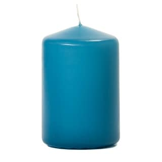 6 Pcs, 3x4 Mediterranean Blue Pillar Candles Unscented 3 in. diameterx4.5 in. tall