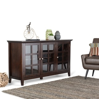 """WYNDENHALL Normandy SOLID WOOD 62 inch Wide Rustic Wide Storage Cabinet - 62""""w x 18""""d x 34"""" h"""