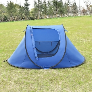 Costway Outdoor 2-3 Person Camping Tent Automatic Pop Up Quick Shelter
