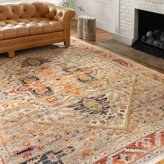 Alexander Home Luxe Antiqued Distressed Area Rug