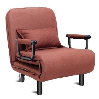 Costway Convertible Sofa Bed Folding Arm Chair Sleeper Leisure