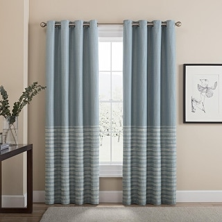 Brielle Home Tremor 100% Blackout Grommet Window Panel