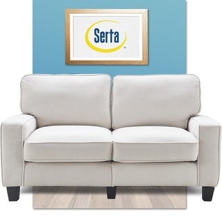 """Serta Palisades Upholstered 61"""" Loveseat for Living Room Modern Design, Straight Arms, Soft Upholstery, Tool-Free Assembly"""