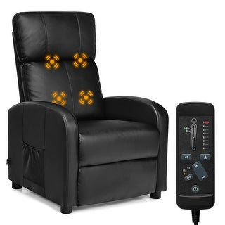 Costway Electric Massage Recliner Sofa Chair Lounge Adjustable with