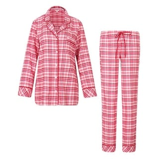 Richie House Women's Plaid Cotton Pajamas Sleepwear Set