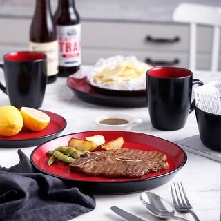 Stone Lain Glaze Stoneware Round Dinnerware Set