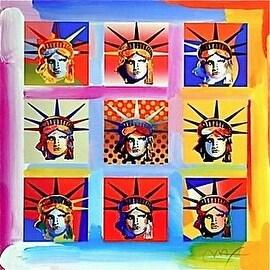 Nine Liberties, Ltd Ed Lithograph, Peter Max