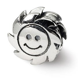 Sterling Silver Reflections Smiling Sun Bead (4mm Diameter Hole)
