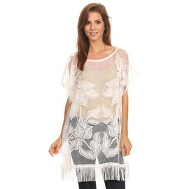 Floral Lace Tunic with Fringe