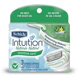 Schick Intuition Naturals Cartridges, Sensitive Care 3 ea