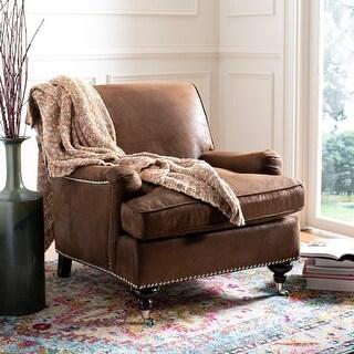 """Safavieh Chloe Brown Club Chair - 29.3"""" x 34.3"""" x 31.5"""""""