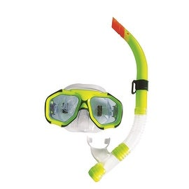 Lime Green Zray Teen/Young Adult Scuba Mask and Snorkel Dive Set