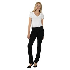 Lola Pull On Straight Jeans, Catherine-BLK