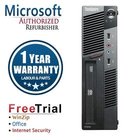 Refurbished Lenovo ThinkCentre M91P SFF Intel Core I5 2400 3.1G 16G DDR3 1TB DVD Win 10 Pro 1 Year Warranty