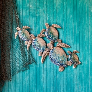 Sea Turtle Wall Decor Group Of Five - 2 x 29 x 23