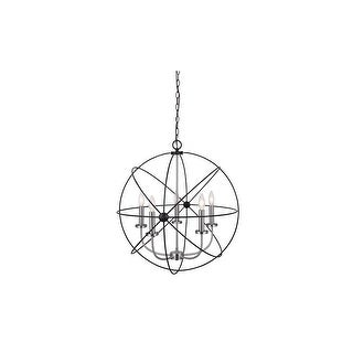 "Canarm ICH282B0525 Summerside 5 Light 25"" Wide Taper Candle Globe"