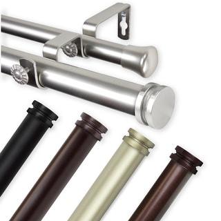 InStyleDesign Pita 1 inch Diameter Adjustable Double Curtain Rod