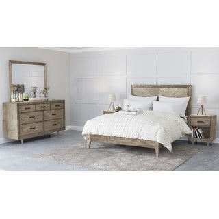 Abbyson Retro Mid Century 5 Piece Bedroom Set