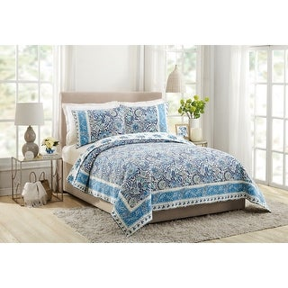 Makers Collective Bisou 3-piece Floral King Quilt Set