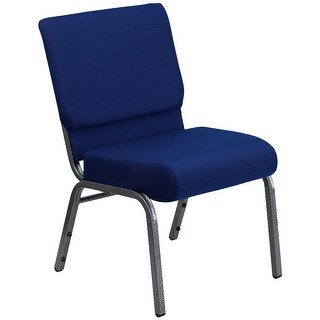 "21""W Stacking Church Chair - Silver Vein Frame"