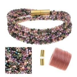 Refill - Beaded Kumihimo Wrap Bracelet Kit-Rose Tone - Exclusive Beadaholique Jewelry Kit