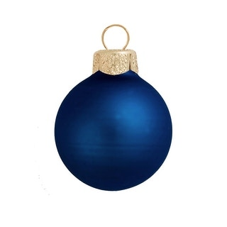 "40ct Midnight Blue Shatterproof Matte Christmas Ball Ornaments 1.25"" (30mm)"