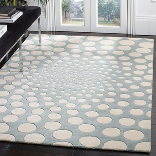 Safavieh Handmade Soho Knarik Abstract Dots N.Z. Wool Rug