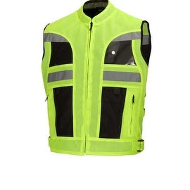 Hi Visibility Mesh Motorcycle Biker Vest Military Spec Green by Xtreemgear MBV105