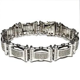Diamond Bracelet for Men 20mm Extra Wide 1cttw Diamonds Pave Set Diamonds 8.5 inch Long