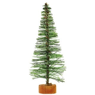 "5"" Green Bottle Brush Artificial Mini Pine Christmas Tree - Unlit - under-3-feet"