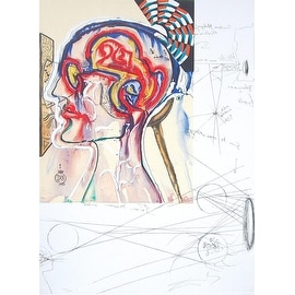 Spectacles With Holograms and Computers, Lithograph, Salvador Dali