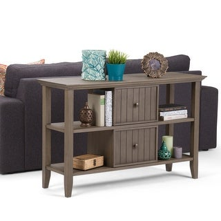 WYNDENHALL Normandy SOLID WOOD 48 inch Wide Rustic Console Sofa Table - 47.5 Inches wide
