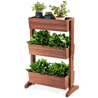 3-Tier Raised Garden Bed Vertical Freestanding Elevated Planter Patio