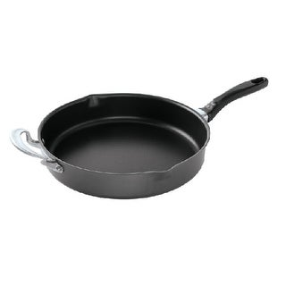 Nordic Ware Professional Weight 12 Inch Texas Skillet with Helper Handle