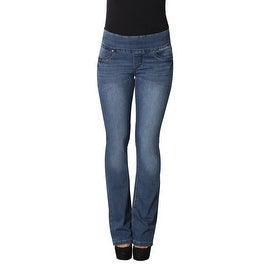 Lola Pull On Bootcut Jeans, Leah-MB