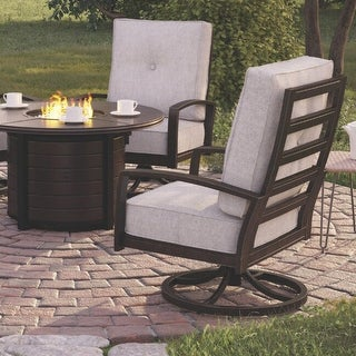Castle Island Outdoor Gray Swivel Chair