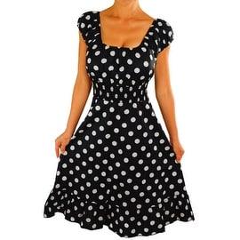 Funfash Plus Size Black White Polka Dots Womens Rockabilly Dress