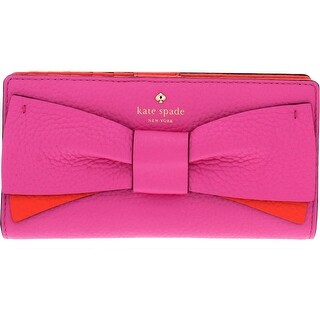 Kate Spade New York Eden Lane Stacy Leather Bow Snap Wallet - O/S