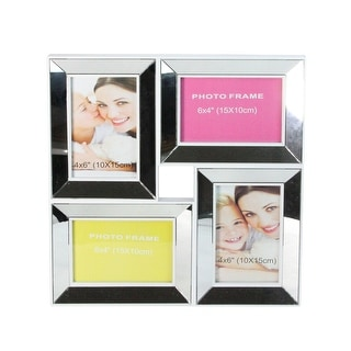 "14.25"" Silver Square Collage Glass Encased Picture Frame - other-frame-size"