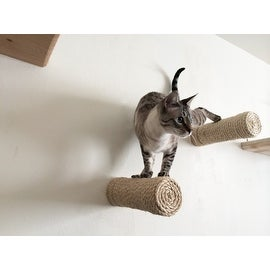Floating Sisal Cat Post - Handcrafted Cat Shelf