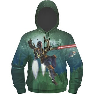 Star Wars Boba Fett Flying Men's Sublimated Zip Hoodie