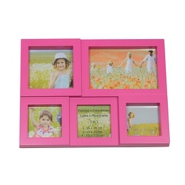 """11.5"""" Pink Multi-Sized Puzzled Photo Picture Frame Collage Wall Decoration"""