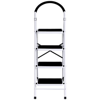Costway 4 Step Ladder Folding Stool Heavy Duty 330Lbs Capacity