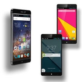 Indigi® M8 Factory Unlocked 3G GSM+WCDMA 6.0inch HD Display Android 5.1 Lollipop Dual-Core Dual-Sim SmartPhone (Black)