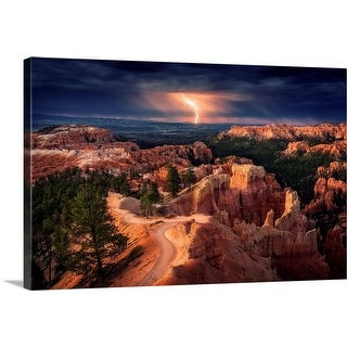 """Lightning over Bryce Canyon"" Canvas Wall Art"