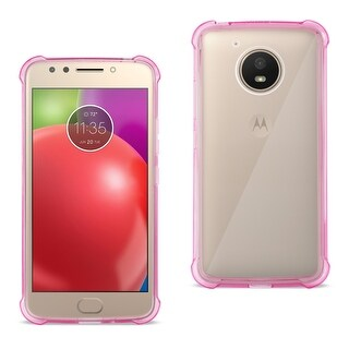 Reiko Motorola Moto E4 Active Clear Bumper Case with Air Cushion Protection in Clear Hot Pink